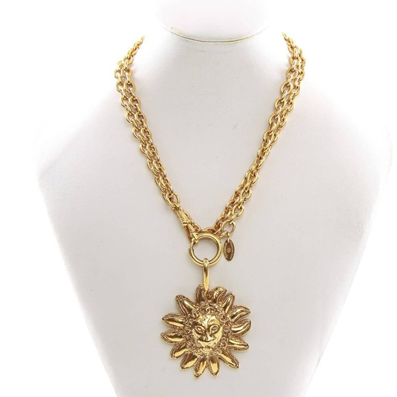 6c8db18aa3b851 CHANEL Jewelry | Gold Chain With A Lion Head Pendant | Poshmark
